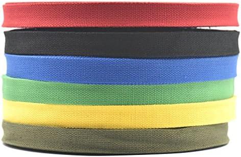 9 metros de cinta de algodón tejido trenzado de 25 mm para hebillas, bolsas, bolsos de mano, correas, cinturones, 6 colores: Amazon.es: Juguetes y juegos