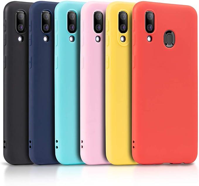 Wanxideng - 6x Funda para Samsung Galaxy A40, Carcasa en Silicona ...