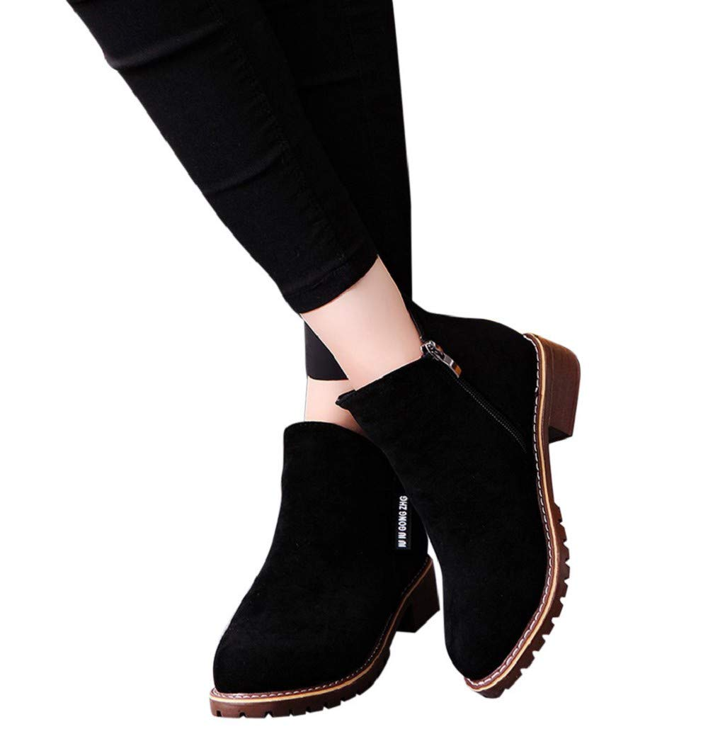 Photno Women's Low Waist Hiking Boots Lightweight Non-Slip Hunting Boots, Ankle Support Comfortable Suede Booties