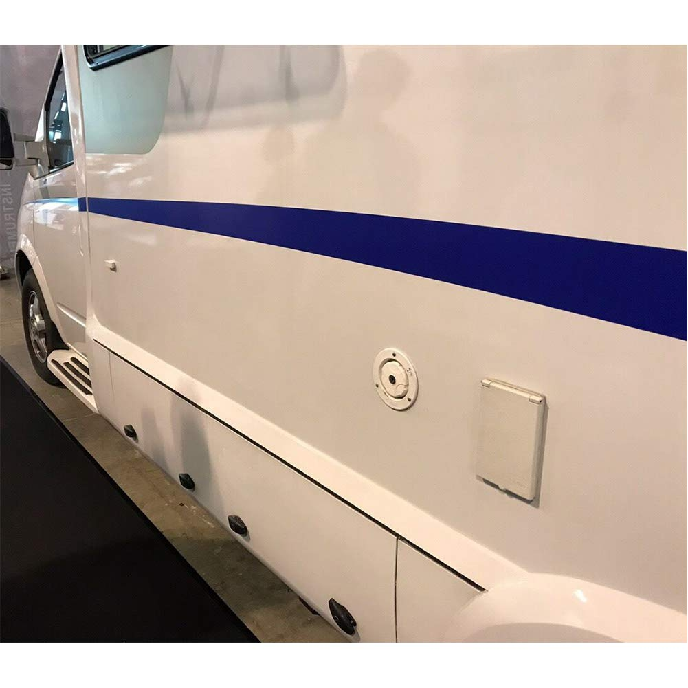 BEESCLOVER White Round Gravity City Water Inlet Fill Dish Hatch Lock for RV Trailer Camper White A1235 by BEESCLOVER (Image #4)