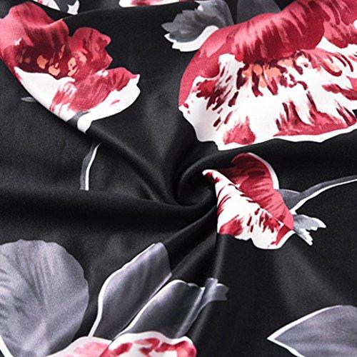 Ularma Femmes Sans manches Floral Bodycon Cocktail Crayon Mesdames Parti Robe