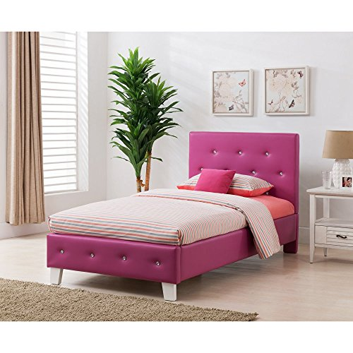 Boraam Kelsey Bed Set, Full, Pink