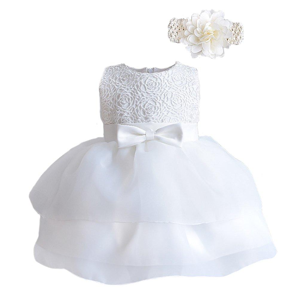 Romping House Newborn Baby Girls Christening Baptism Gown Wedding ...