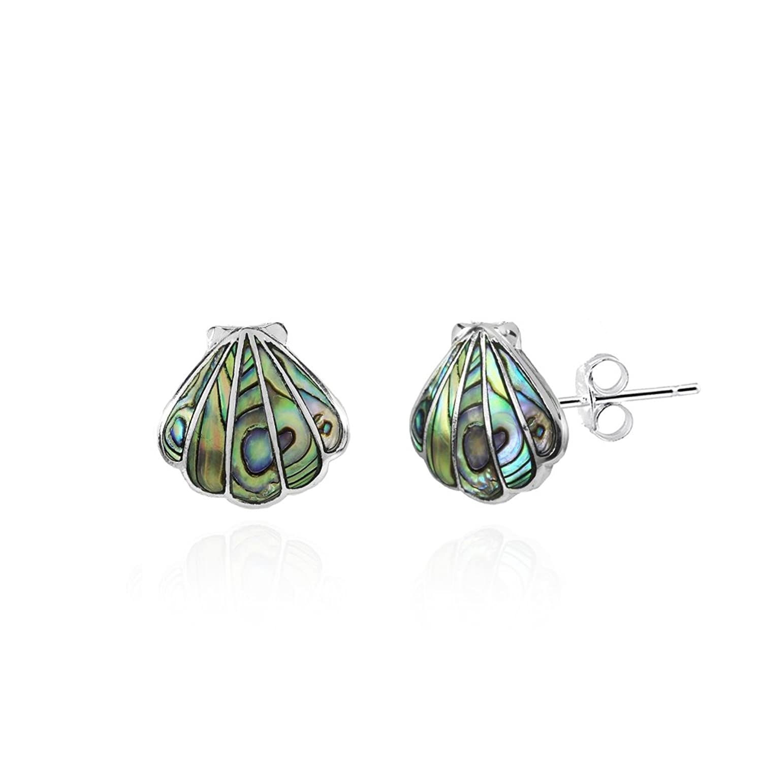 this designed seashell products artisan khun cute oval comes se earrings beautiful in jai trendy piece heart round which and details stud square accents inlaid abalone inlay ha silver stone aeravida
