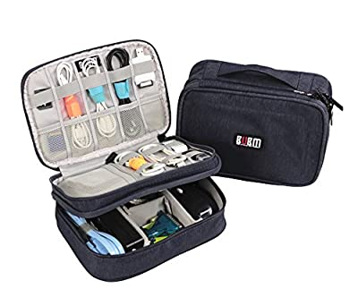 Electronics Organizer Travel Bag Accessories Cable Cord Storage Cases Fit iPad mini