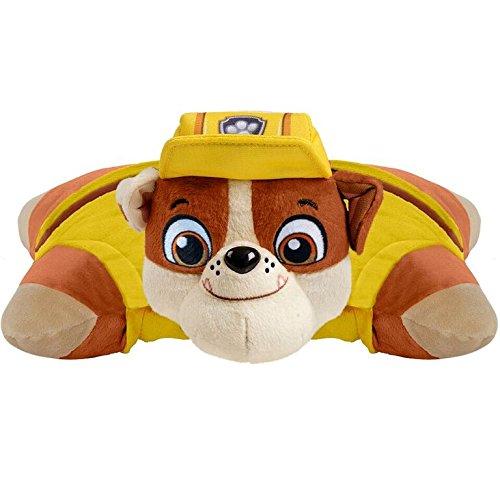 Pillow Pets Nickelodeon Paw Patrol, Rubble, 16'' Stuffed Animal Plush Toy