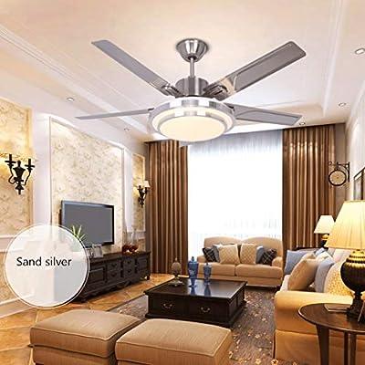 Ventilador de techo ZHAOSHUNLI Reversible de Acero Inoxidable ...