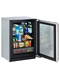 3024RGLS00 24 Modular 3000 Series Star K Compact Refrigerator with 4.9 cu. ft. Capacity Right Hinge Convection Cooling Interior Light and OLED Display in Stainless Steel