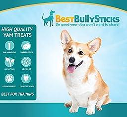 Gluten-Free Sweet Potato Dog Treats by Best Bully Sticks (2 Pound Value Pack)