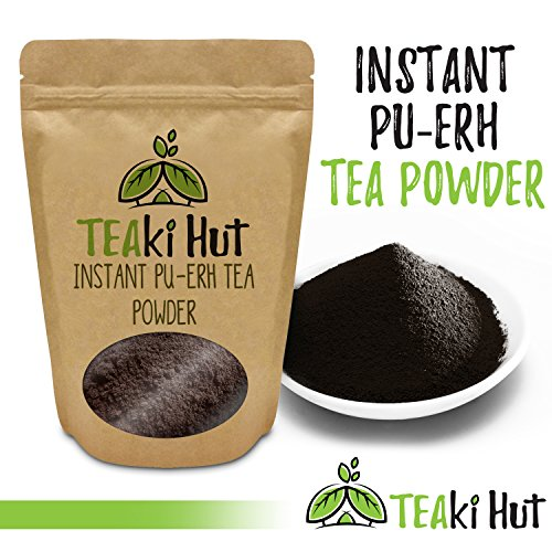 Blacks Organic Hot Chocolate - TEAki Hut Organic Instant Pu-erh Tea Powder (4 oz / 80 servings)