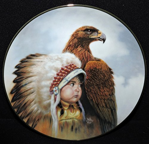Art Collector Plate Collection - Gregory Perillo Collectors Plate - Proud Young Spirits Native American Indian Boy & Hawk