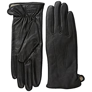Glove.ly Women's Classic Leather Gloves, Black, Small