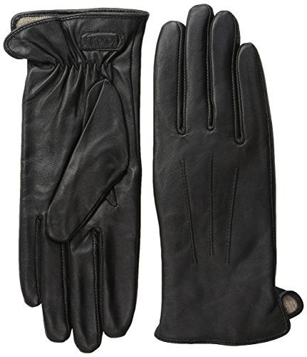 Glove.ly Women's Classic Leather Gloves, Black, Large