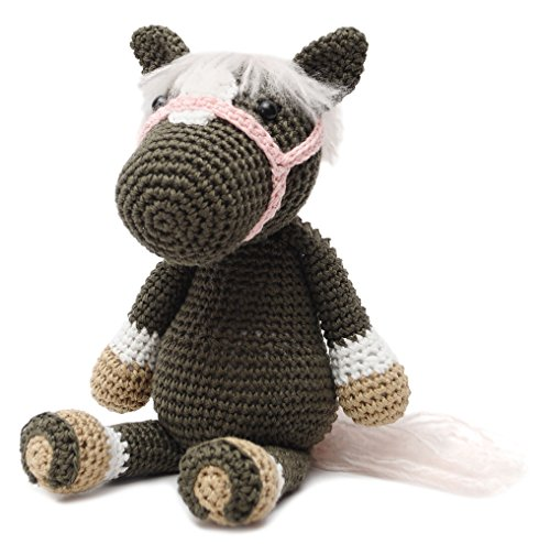 DaoOfThao Wild Horse Animal Handmade Amigurumi Stuffed Toy Knit Crochet Doll VAC