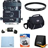 Canon TS-E 90mm f/2.8 Tilt Shift Lens for Canon SLR Cameras w/ 58mm Multicoated UV Protective Filter, Deluxe Bag, Lens Cap Keeper, Microfiber Cleaning Cloth, Tri-fold Memory Card Wallet, USB 2.0 Card Reader