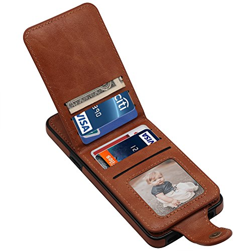 Galaxy S9 Case, Galaxy S9 Wallet Case, LakiBeibi Slim Fit PU Leather Magnetic Detachable Galaxy S9 Card Holder Case with Kickstand Flip Shockproof Protective Cover for Samsung Galaxy S9 (2018) – Brown Review