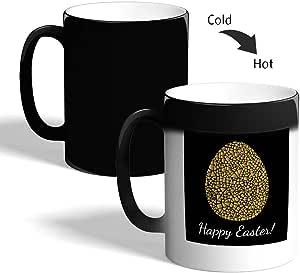 Golden egg Printed Magic Coffee Mug, Black