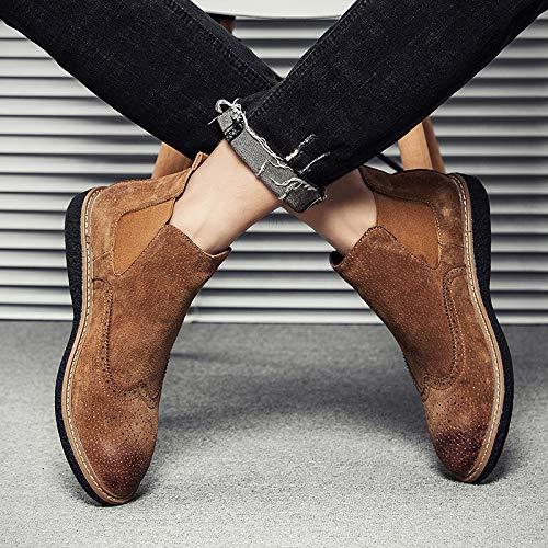 Shukun Herren Stiefel Spring Martin Stiefel Men's Pu Stiefelies Men's Chelsea Stiefel Set Foot to Help Casual schuhe