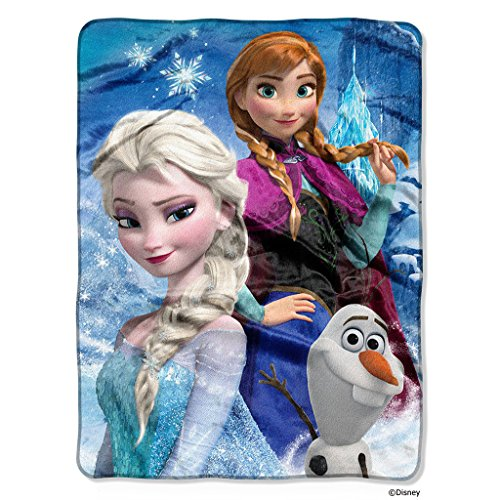 1 Piece 46 X 60 Kids Blue Frozen Theme Throw Blanket, Disney