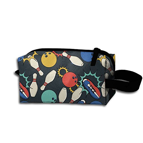 Bowling Ball Shoes Multifunction Storage Bag Buggy Bag Travel Cosmetic Bags Small Makeup Clutch Pouch Cosmetic And Toiletries Organizer Bag