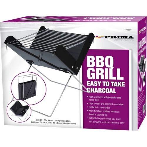 PlatiniumTech Portatile Pieghevole Barbecue V Grill per Feste all' Aperto, Campeggio e Cortili da Giardino (Facile da Prendere Antracite)