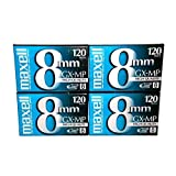 Maxell 8mm GX-MP120 Videotapes (4-pack) by Maxell