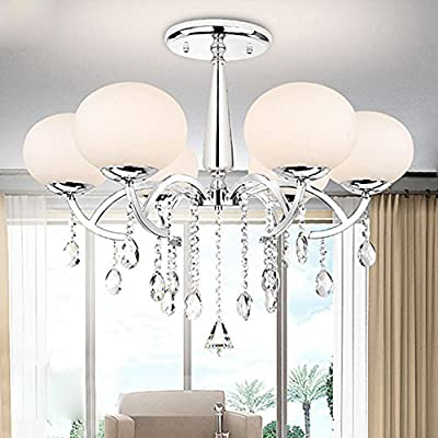 LightInTheBox Modern Elegant 6 Light Chandelier with Global Shade Morden Simple Home Ceiling Light Fixture