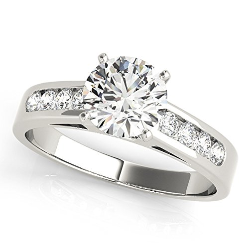 Scintilenora Classic Channel Set GIA Cerified Diamond Engagement Ring 18k Gold 1 1/3 TDW