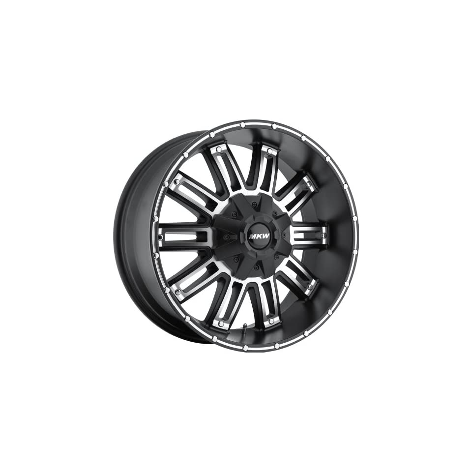 MKW Offroad M80 17 Black Machined Wheel / Rim 8x6.5 with a 10mm Offset and a 130.8 Hub Bore. Partnumber M80 1790816510B
