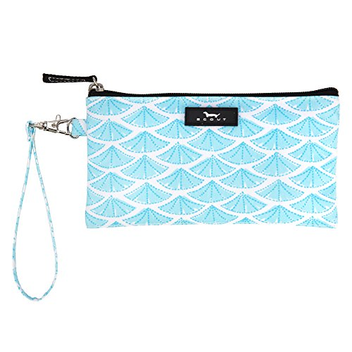 SCOUT Kate Wristlet, Essential Lightweight Clutch, Fits iPhone 6-8, Removable Strap, Water Resistant, Zips Closed, Swimfan by SCOUT