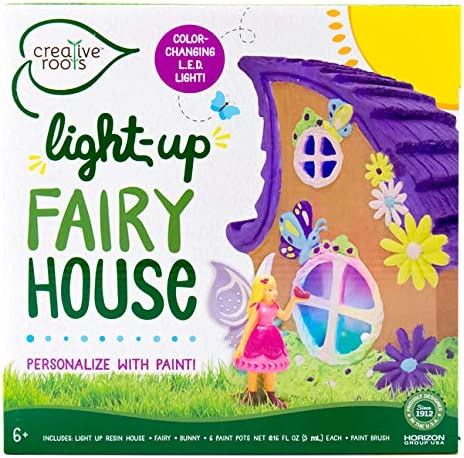 Glow in the dark fairy house zipped project with handle.
