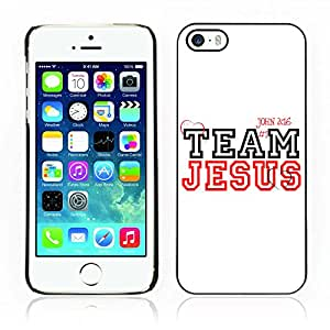 Carcasa Funda Case // V0000396 Bible: Team Jesus // iPhone 5 5S