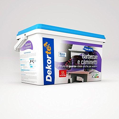 GDM Dekortè - Pintura al cuarzo para exteriores, para barbacoas y chimeneas, color: blanco, 4 L: Amazon.es: Bricolaje y herramientas