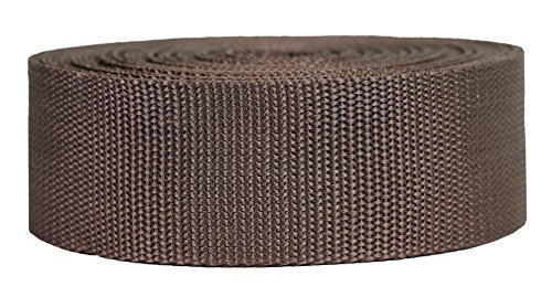 Strapworks Heavyweight Polypropylene Webbing - Heavy Duty Poly Strapping for Outdoor DIY Gear Repair, 2 Inch x 25 Yards - Brown