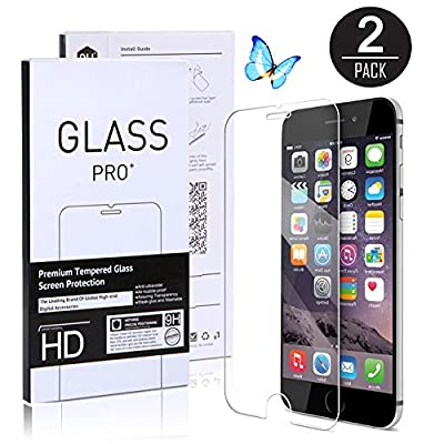 (2 Pack) iPhone 6s Screen Protector, [0.3mm - Tempered Glass] [3D Touch Compatible ] [ High Definition ] for iPhone 6 / 6s and iPhone 7 - 4.7 INCH
