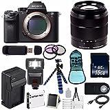 Sony Alpha a7R II Mirrorless Digital Camera (International Model no Warranty) + Sony E-Mount SEL 1855 18-55mm Zoom Lens (Black) + 49mm 3 Piece Filter Kit 6AVE Bundle 6