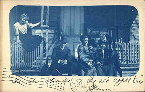 in-the-shade-of-the-old-apple-tree-cyanotypes-original-vintage-postcard