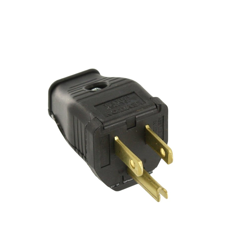 Leviton 3W101-E 2-Pole 3-Wire Grounding Plug, Black - Spark Plug And ...