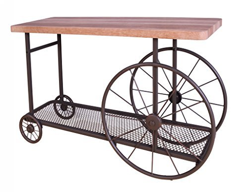 Kitchen Cart Antique Oak Base (ACME Furniture 82863 Francie Sofa Table, One Size, Oak and Antique Gray)