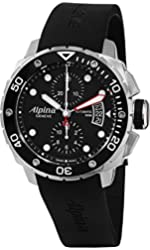 Alpina Men's AL725LB4V26 Extreme Diver Analog Display Swiss Automatic Black Watch