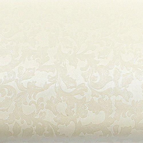 ROSEROSA Peel & Stick Backsplash Papyrus Victoria Damask Oriental Paper Textured Vinyl Wall Paper Interior Film Shelf Liner Table and Door Reform (MG5115-2 : 1.96 Feet X 8.20 Feet)