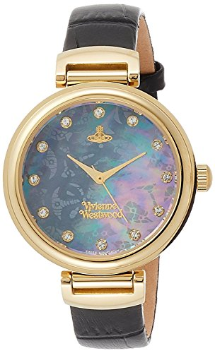 Vivienne Westwood watch TateWrap black shell dial black leather Quartz VV128GDBK Ladies