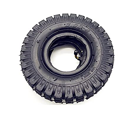 3.00-4/260 x 85 Tires+Tube for Electric Scooter Go kart Mini Pocket Bike (Knobby Tread) DELUXE GAIN