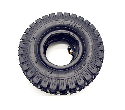 3.00-4 / 260 x 85 Tires+Tube for Electric Scooter Go kart Mini Pocket Bike (Knobby Tread)