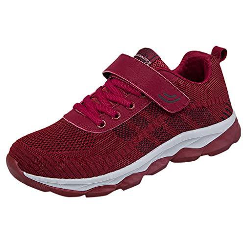 (JJLIKER Women Men Couples Mesh Breathable Lightweight Hook and Loop Running Shoe Trail Shoe Comfortable Non-Slip Shoes)
