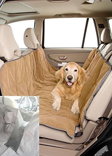 Pet Travel Hammock Dog Car Seat Cover-Microvelvet Sand