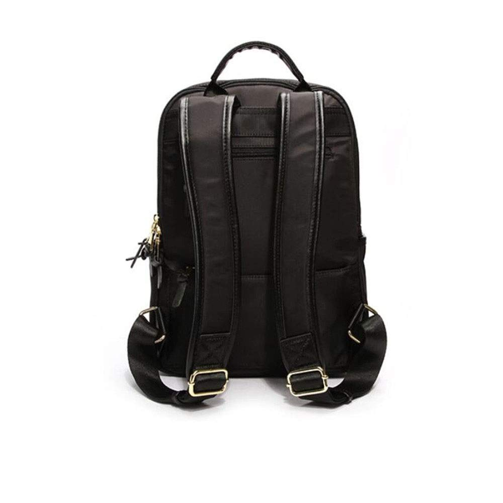 Backpack Men and Women Leather Solid Color Leisure Backpack College Wind Student Bag Water Repellent Large Capacity Travel Backpack Multipurpose Daypacks