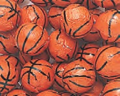 Foiled Milk Chocolate Basketballs 5LB Bag by The Nutty Fruit House by The Nutty Fruit House (Image #1)