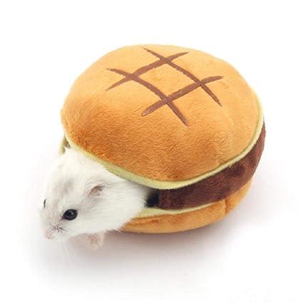 kekai Hamster Nest House, Cama de algodón Estilo Hamburguesa para Hamster, Suave y Suave