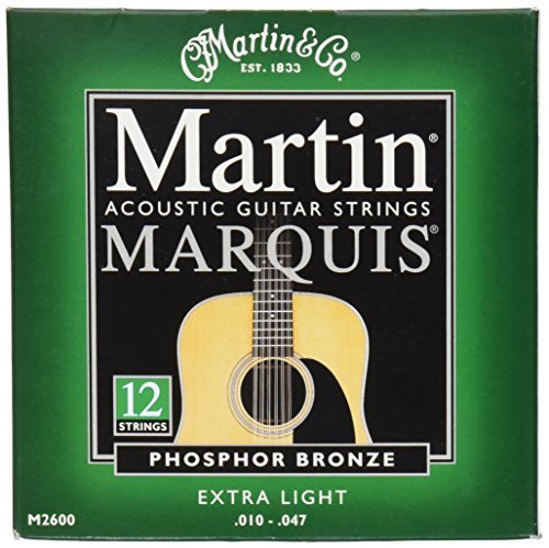 C.F. Martin & Co. M2600 Bronze Acoustic Guitar Strings, Extra Light